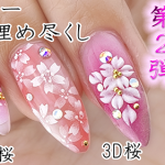 ❀桜春ネイル❀第2弾【3Dとエアーで桜ジェルネイルデザイン】